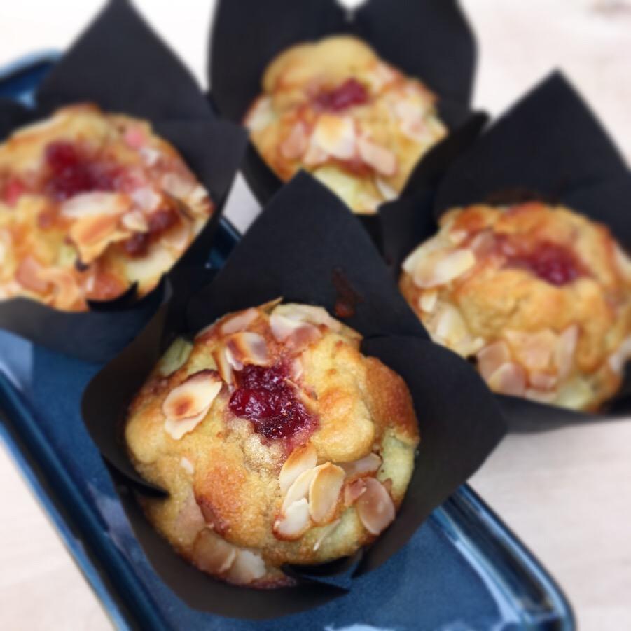 Muffin rhubarbe fraise