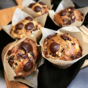 Muffin banane noix chocolat