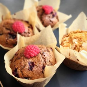 Muffin choco fruits rouges