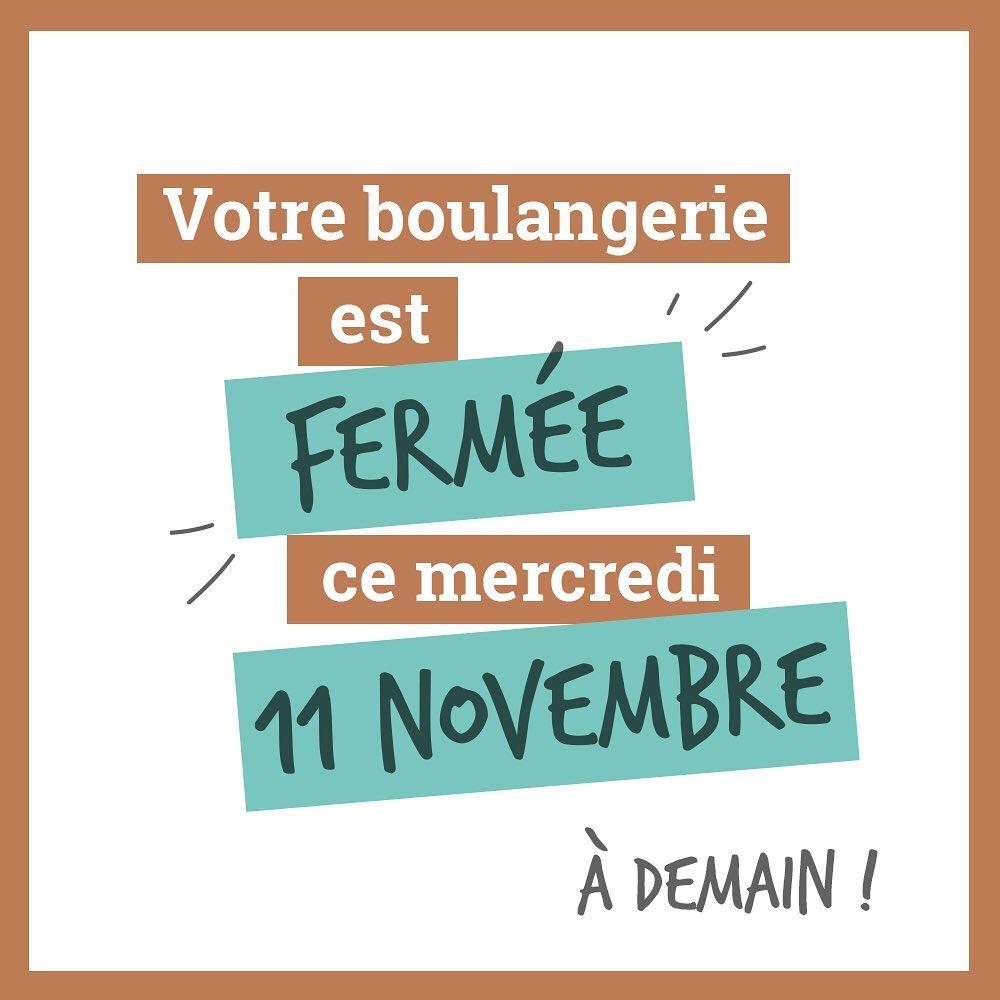 Fermeture 11 novembre